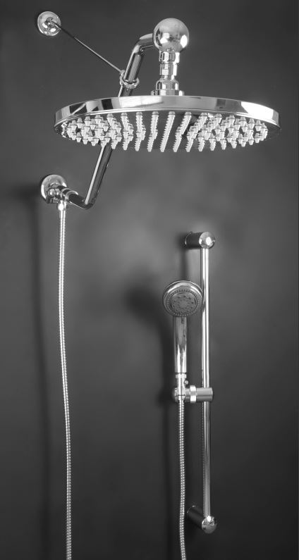 rain shower head with handheld. Large 12  Stainless Steel Rain Shower Head with Support Bracket head has 184 Easy to Clean Rubber High Power Spray Tips Atlantis 27 JPG
