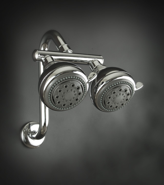 First Mate Dual Shower Heads, run one head or both