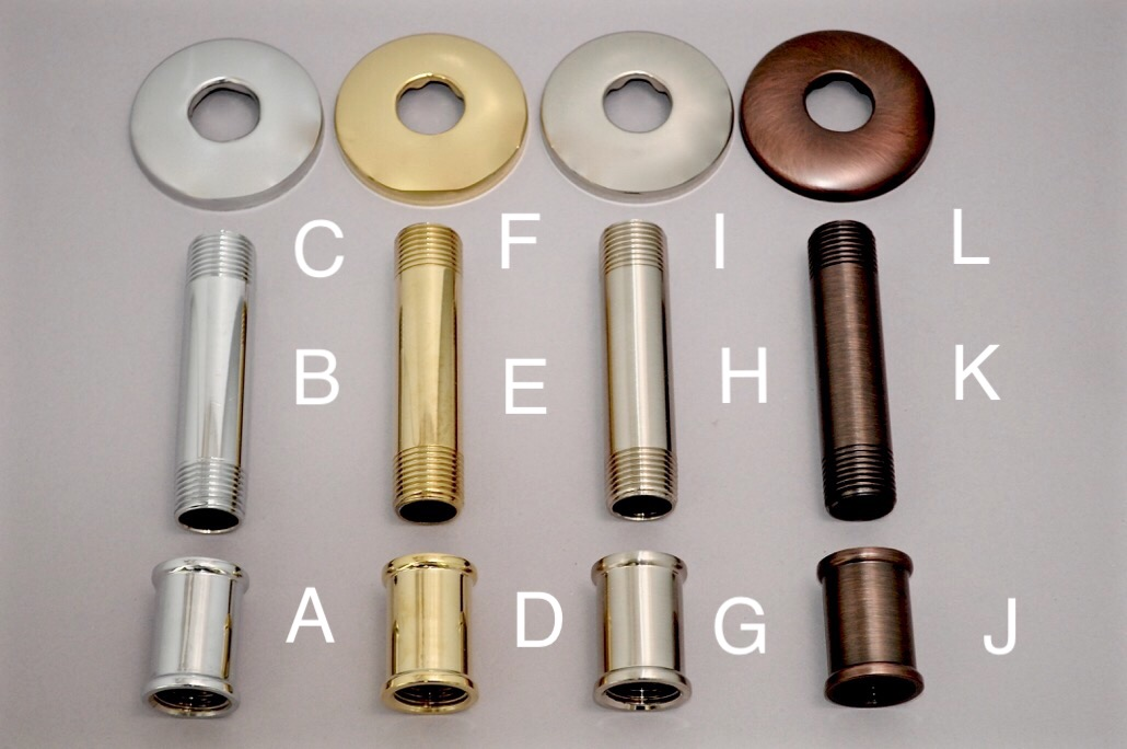 Replacement Shower Arm Couplings, Pipe Nipples